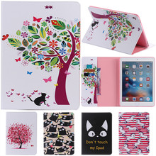 For IPad Pro Cute Cartoon Flower with Card Slot Stand Flip PU Leather Coque Case sFor Apple IPad Pro 9.7 Inch Tablet Cover Cases litchi texture pu pc horizontal flip leather case for galaxy note 9 with with card slot black