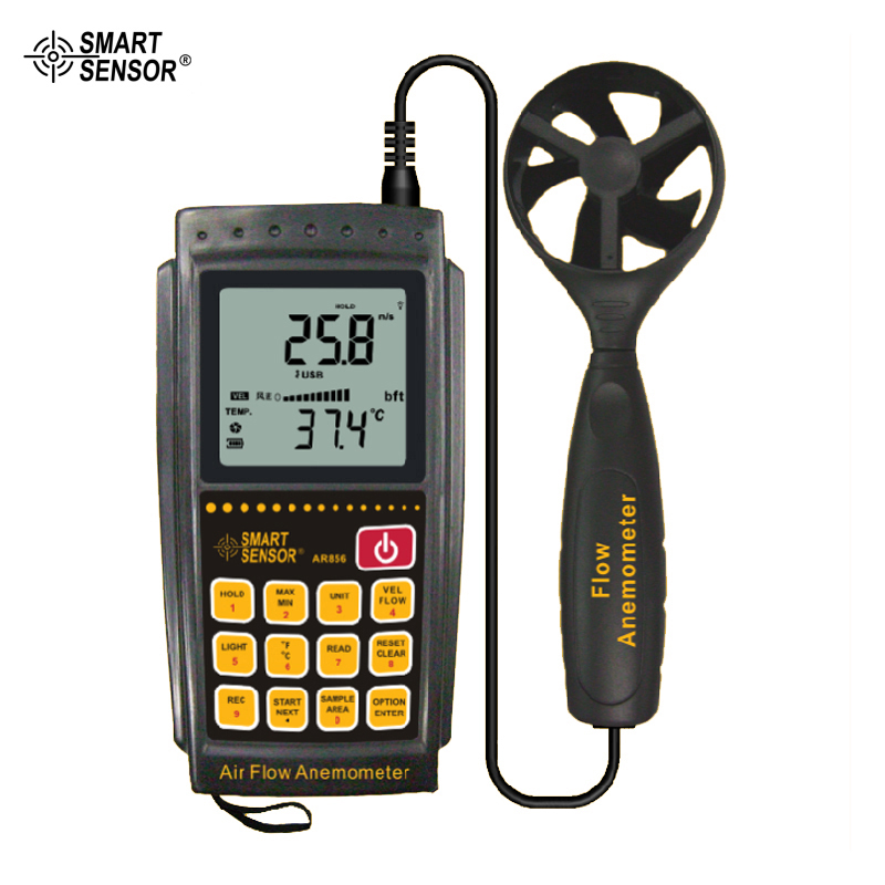 цена на Common Weather Station Instrument Air Flow Wind Speed Anemometer Tester Smart Sensor AR856