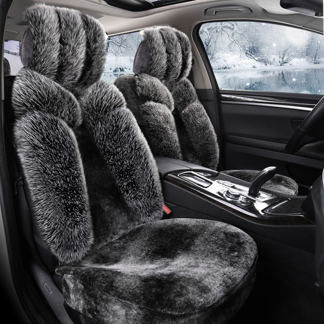 Hot Selling Car Seat Covers Winter Cushion Full Set Wool Cover Fur