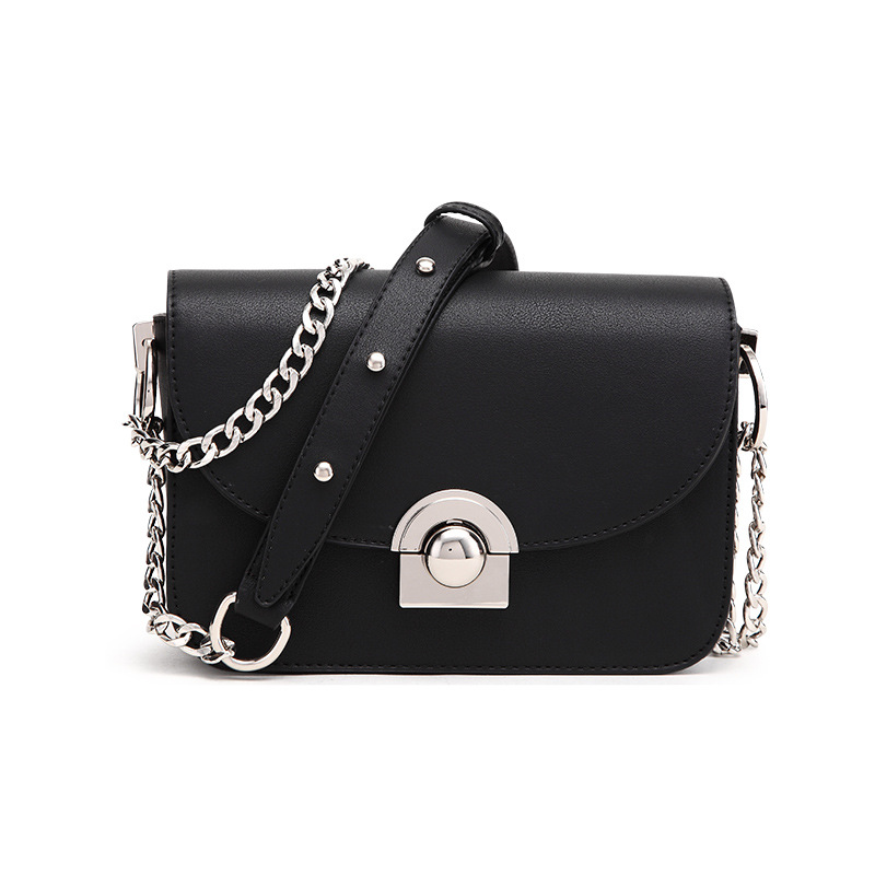 MORESHINE New women's bag PU leather Shoulder bags Ladies fasion Silver lock design Summer bag Female long Chains Crossbody bag