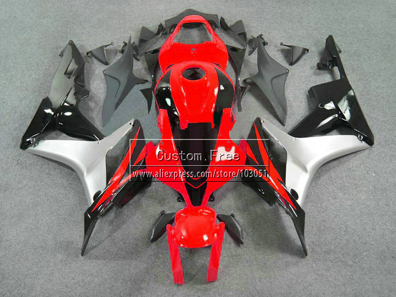 ABS Injection fairings kits for Honda CBR 600 RR F5 fairing set 07 08 CBR 600RR CBR600RR 2007 2008 red silver motorcycle parts abs injection fairings kit for honda 600 rr f5 fairing set 07 08 cbr600rr cbr 600rr 2007 2008 castrol motorcycle bodywork part
