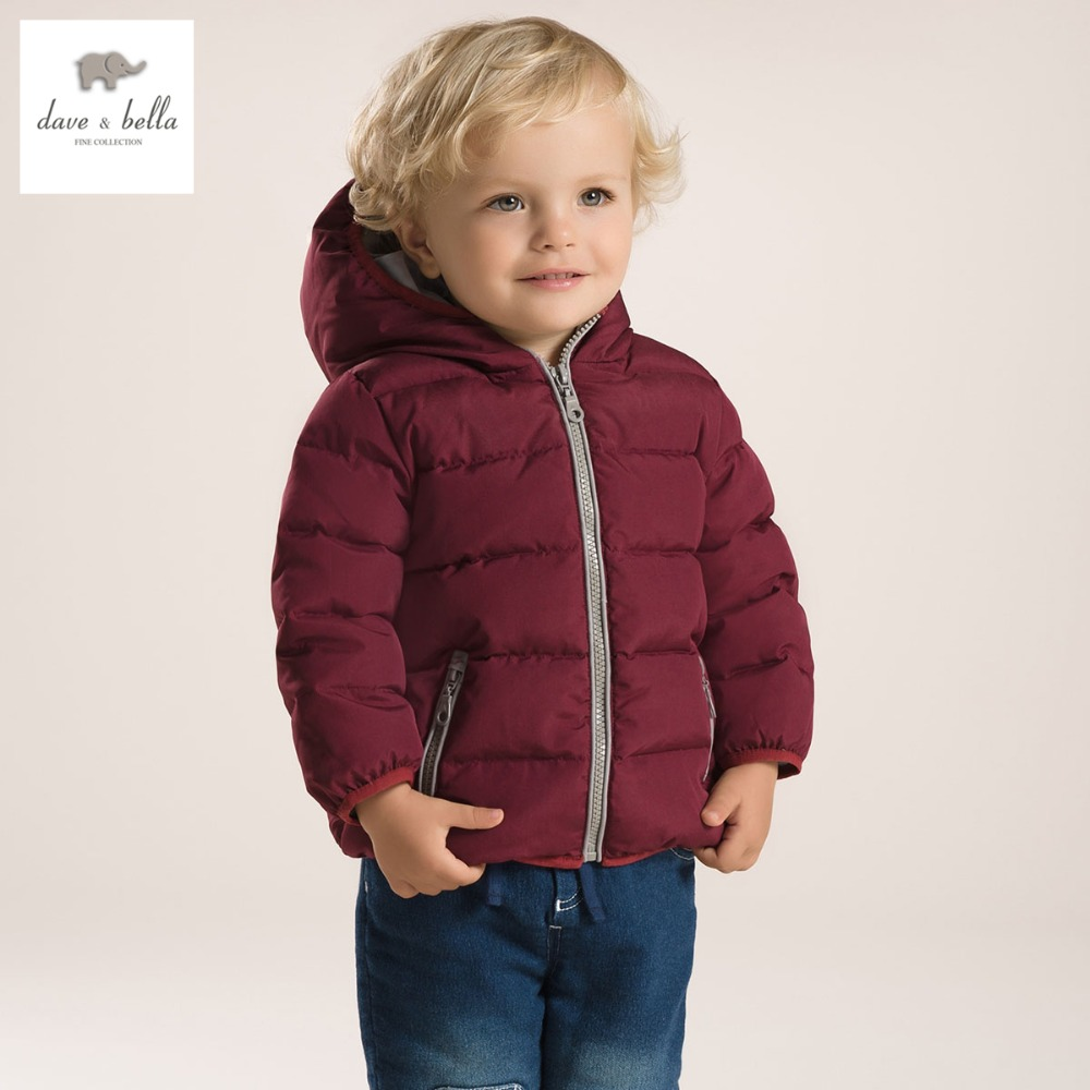 DB2933 dave bella  winter infant coat baby padded jacket boys down jacket kd outerwear toddle clothes kd cloth db4088 dave bella baby girls padded clothing hooded padded coat outerwear kids down jacket