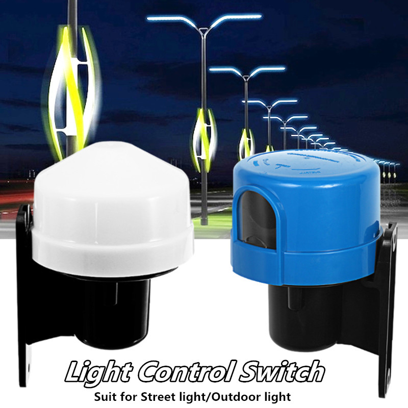 10A Photocell Outdoor Light Control Switch Photoelectric Sensor Lamp Light Switch Street Light Control Switch 220-240V sensky 220v 240v ac outdoor ip44 photoelectric sensor switch light control sensor automatic photocell switch for lamps 302