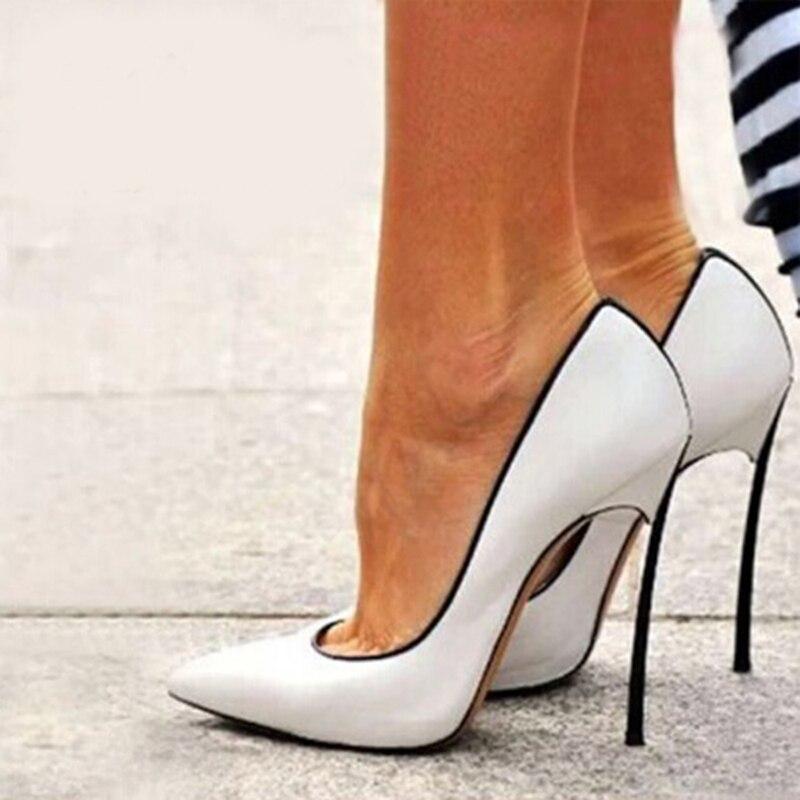 sale retailer 3eb13 d0e92 US $79.56 27% OFF Fashion Sommer Frauen Schuhe Schön Heels High Heel Plus  Größe Spitz Stöckelschuhe Hochzeit Chaussure Femme Frauen Schuhe 62  größe-in ...