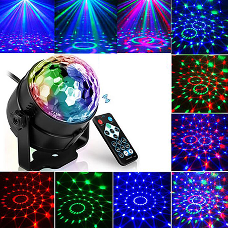 3W Mini RGB Crystal Magic Ball Sound Activated Disco Ball Stage Lamp Lumiere Christmas Laser Projector Dj Club Party Light Show (1)