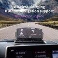 Универсальный держатель для смартфона с креплением на голову  автомобильный HUD телефон  gps-навигация  беспроводное зарядное устройство  под...