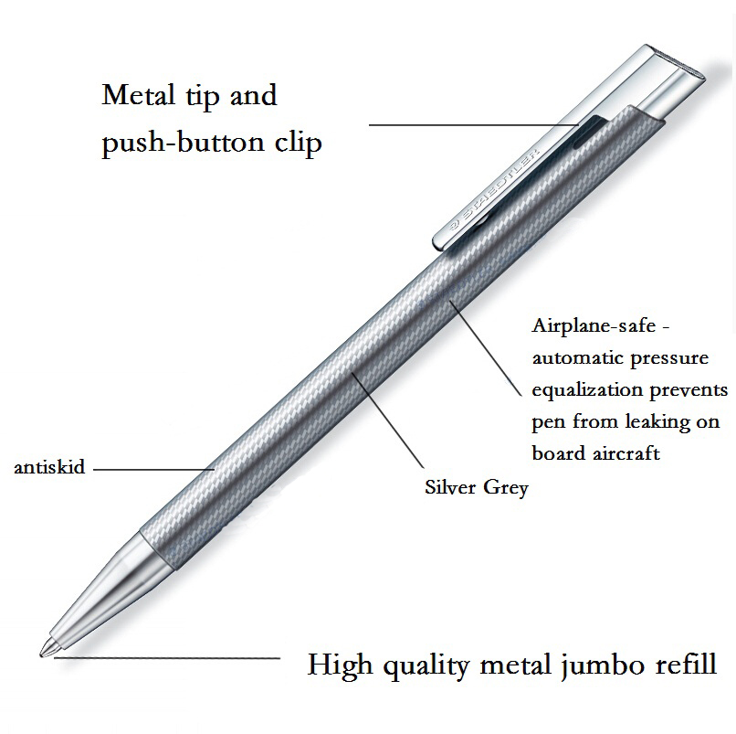 elance Ballpoint pen No. 421 35; Refillable retractable ballpoint pen; Metal tip and push-button clip; Blue ink 2017 keyring telescoping hot outdoor thick mini retractable pen stainless steel metal ballpoint pen portable note keychain