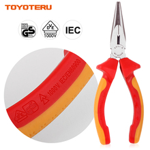 VDE Pliers Top Quality Long Nose with 1000V Insulated Handles 6 Inch(160mm)