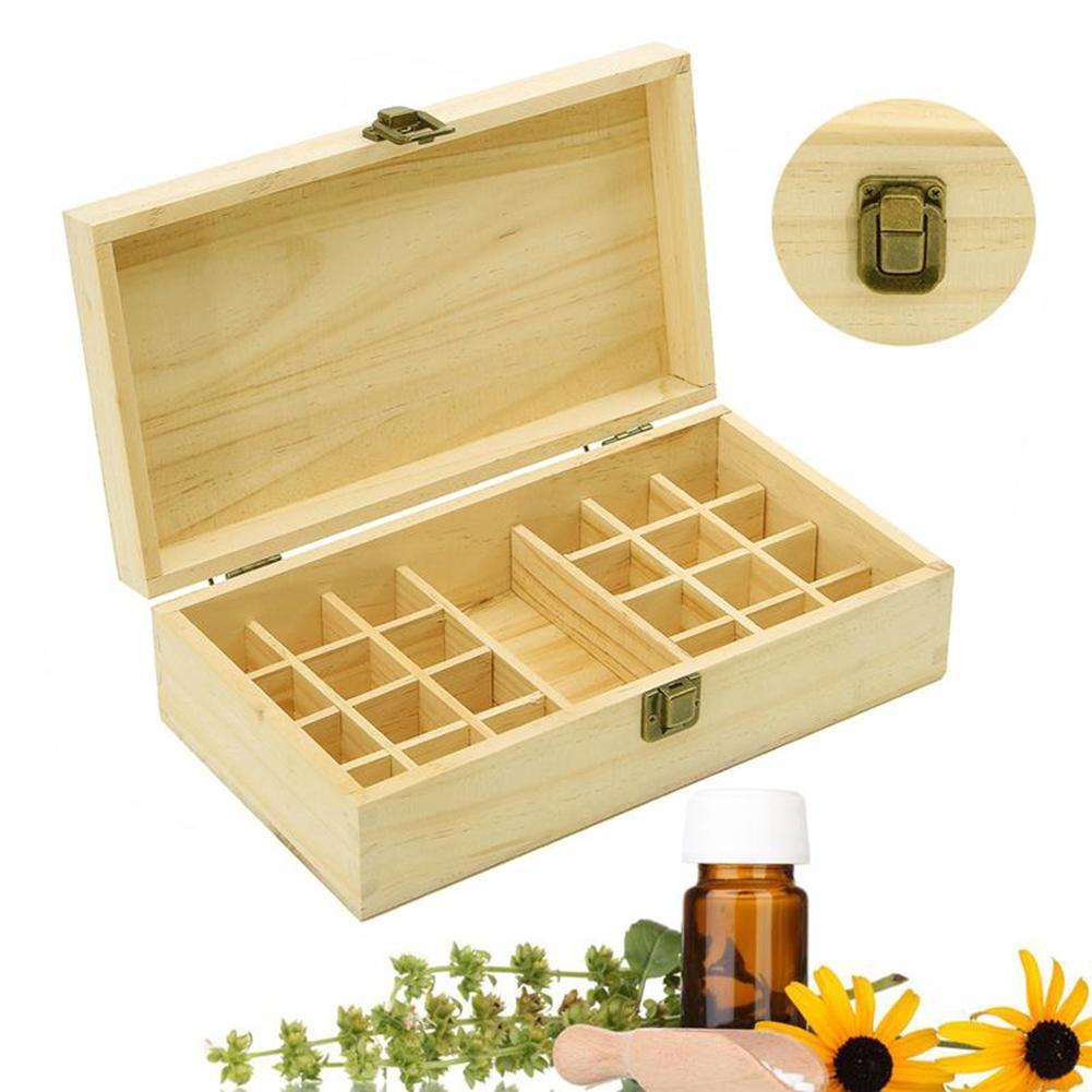 CHUWUJU 25 Ranuras Caja de Almacenamiento de Madera Portátil Caja de - Organización y almacenamiento en la casa