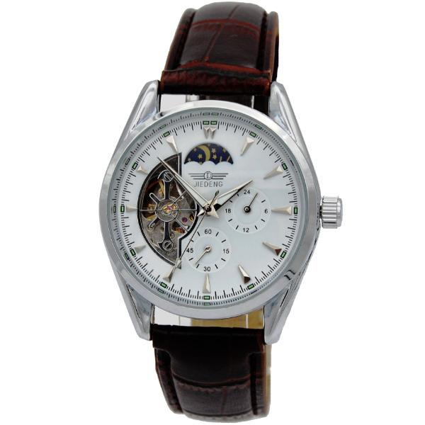 Nueva Hot Relojes de Los Hombres Mecánicos Mano de Viento Para Hombre Tourbillon Esqueleto Hueco de la Manera Correa de Cuero de Lujo de Negocios Reloj de Pulsera
