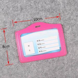 Women And Men PU Card Holder Badge Holder & Accessories Hospital Nurse School Entrance Guard Card & Chest Card Transverse Style