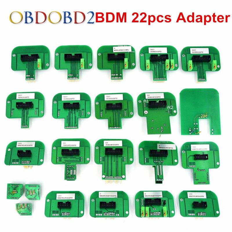 22 stücke BDM Adapter Für KTAG KESS KTM Dimsport Fgtech BDM Sonde mit 22 stücke Adapter Vollen Satz FÜHRTE BDM Rahmen ECU RAMPE Adapter