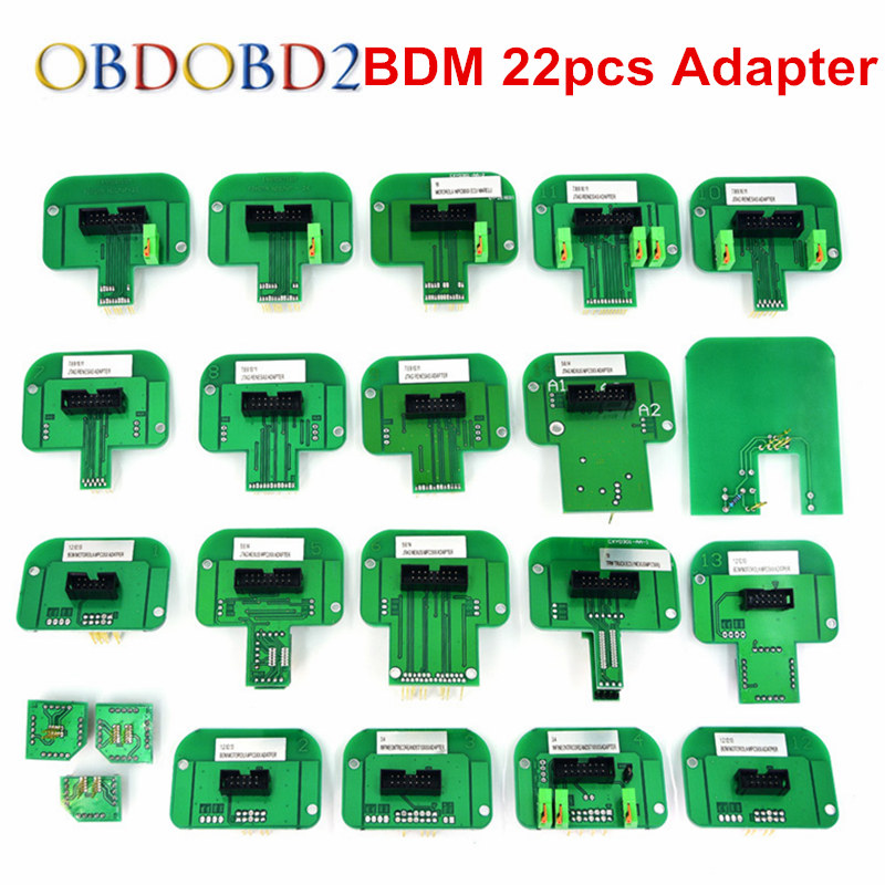 22pcs BDM Adapters For KTAG KESS KTM Dimsport Fgtech BDM Probe With 22pcs Adapters Full Set LED BDM Frame ECU RAMP Adapters best quality led bdm frame with 4 probe pens full set 22pcs bdm adapters fit for ktag kess fgtech bdm100 ecu chip proframmer