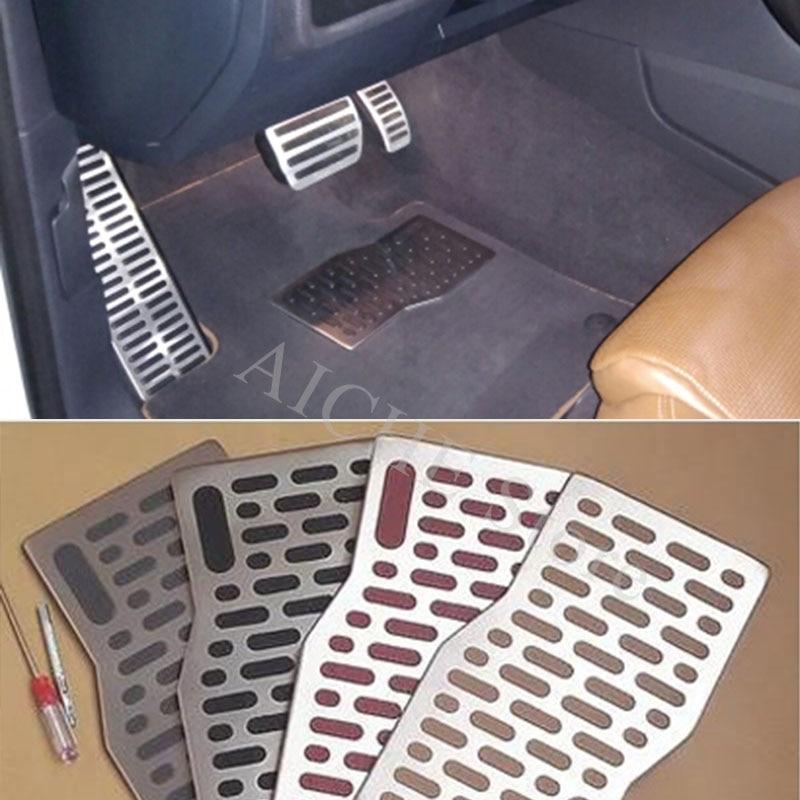 "Car Carpets Plate,Aluminiun Floor Mats Interior Pedals Pad For Audi /""Sline/"" logo"