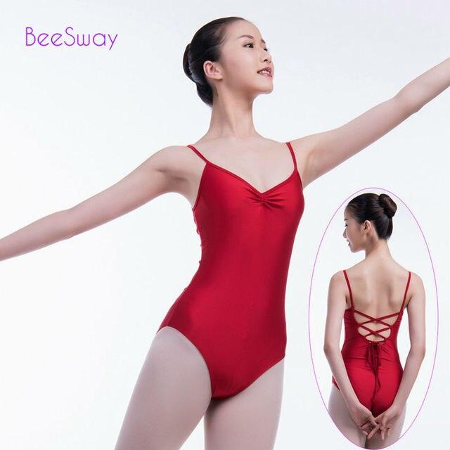 ff24c1c36 Red Gymnastics Leotard ballet leotards for women Adult Ballet ...