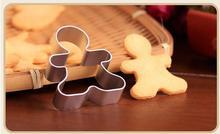 1 piezas pieza de herramientas de corte de galletas de Navidad de aleación de aluminio de pan de jengibre en forma de hombre de vacaciones molde de galletas utensilios de decoración de pasteles de cocina