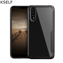 KSELF Shockproof Phone Case For Huawe P20 Lite Case P20 Pro Soft TPU Cover Transparent Silicone Case For Huawei P20 Pro Coque