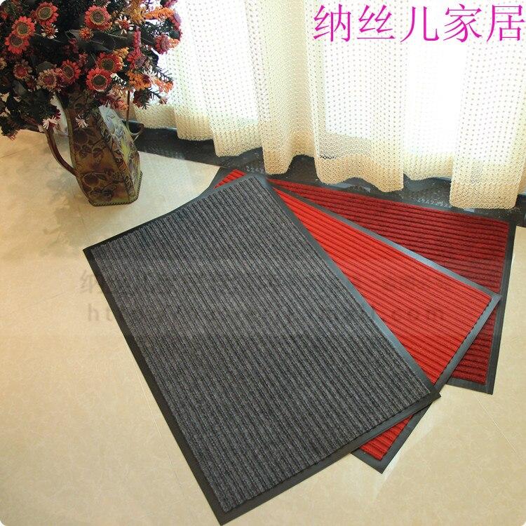 Tapis de sol domestique composé double rayure pvc tapis paillasson extérieur tapis antidérapant