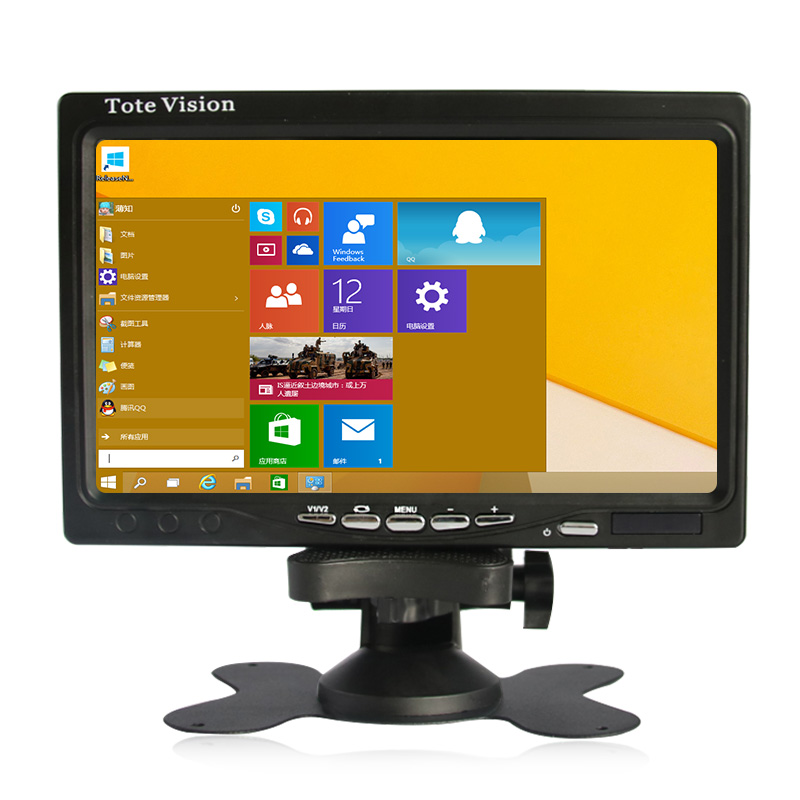 7 inch lcd monitor vga usb interface plastic shell industrial control resistive touchscreen/touch 800*480 resolution