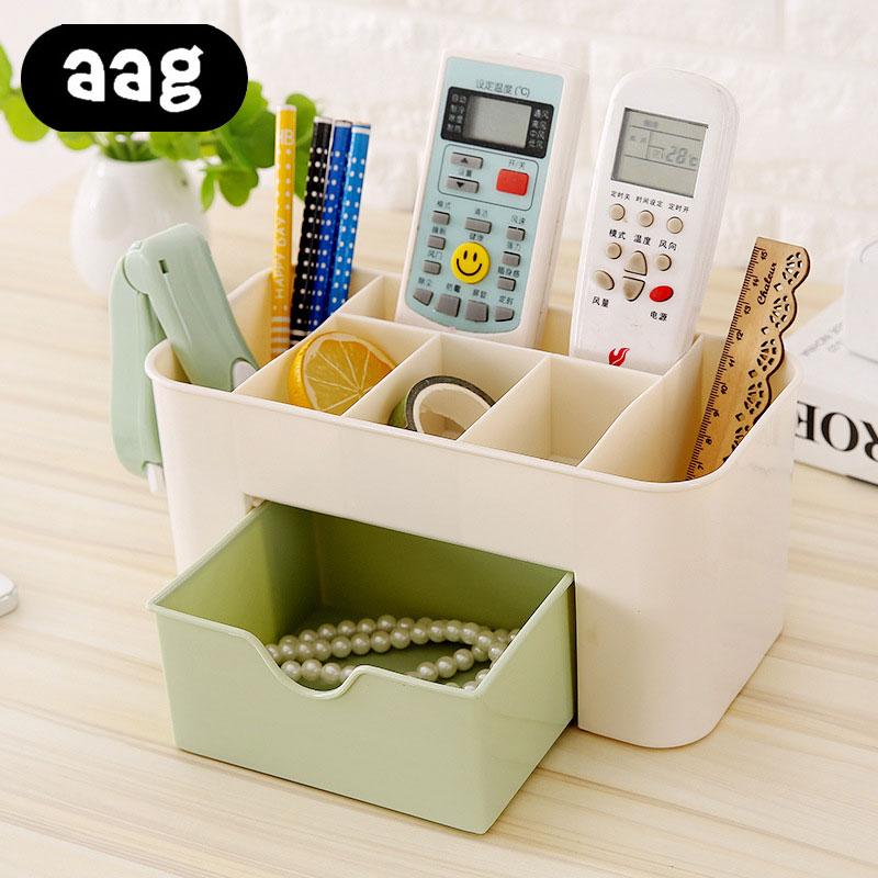 PP Plastic Cosmetic Storage Box Multifunction Desktop Storage Boxes T Drawer Makeup Organizers Stationery Storage Organizer box