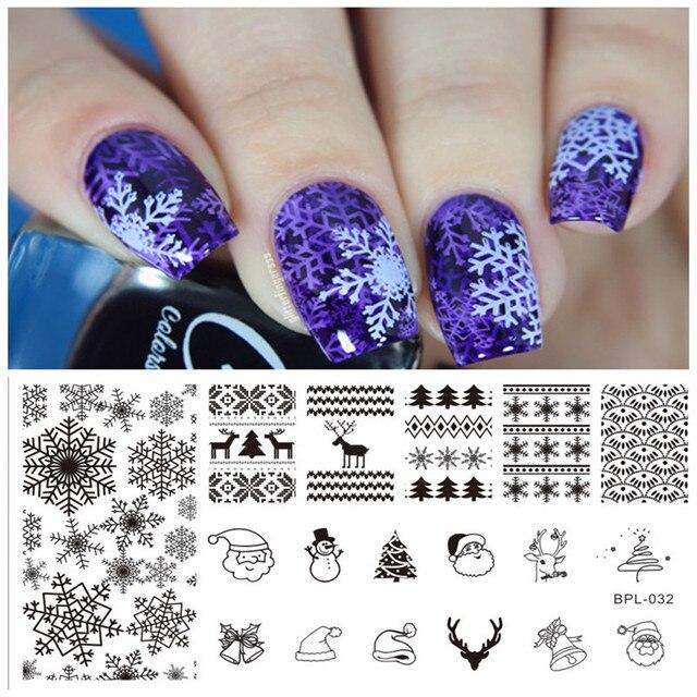 1 stck geboren ziemlich weihnachten schneeflocke muster nail art stempel vorlage weihnachten bild stempelplatte nagel 12 - Nailart Muster