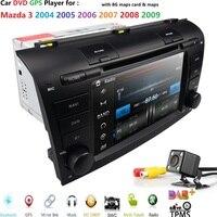 Hizpo Автомобильный мультимедийный dvd Радио для Mazda 3 Mazda3 2004 2009 магнитофон Автомобильная dvd навигационная система стерео проигрыватель SWC RDS CAM к