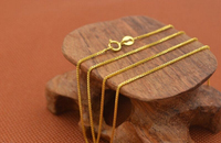 PERFECT REAL Fine Yellow Gold Woman's Box Necklace / 1 2g / 16