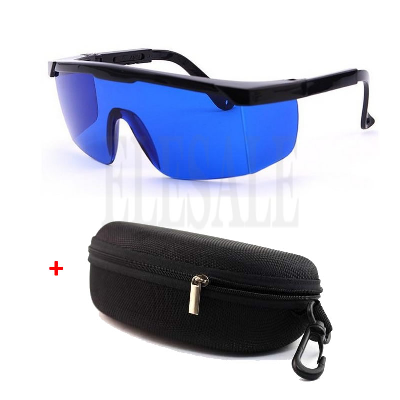 Laser Eye Protection Safety Glasses Blue Lens For Preventing Red And UV Lasers With Portable Case 590-690nm/635nm/650nm
