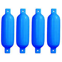 4 PCS Ribbed Inflatable Boat Fender 5.5
