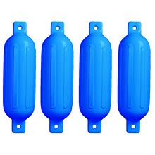4 PCS Ribbed Inflatable Boat Fender 5.5″ X 20″ Vinyl Marine Bumper Dock Shield Protection Blue