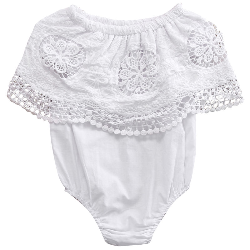 Cute Newborn Infant Baby Girl Romper Clothes 2017 Summer Lace Sunsuit Infant Bebes Toddler Kids Jumpsuit Outfit Children Clothes newborn infant baby clothes girl lace strap floral romper jumpsuit headband 2pcs summer baby girl romper clothes baby onesie