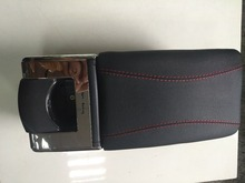 black Car leather storage box storage case console decoration car console box universal car armrest vw b5 arm rest kia rio k2