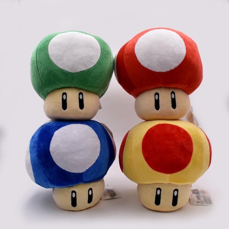 Super Mario Mushrooms 20cm 4 Colours Plush Toys Anime Dolls Cute Present For Children Free Shipping недорго, оригинальная цена