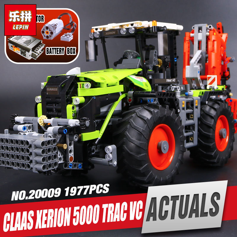 Lepin 20009 1977Pcs New Technic Ultimate Series Mechanical Heavy Tractors Educational Building Blocks Bricks Toys 42054