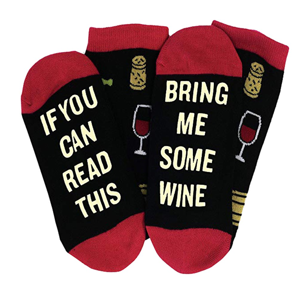 Comfortable   Socks   Chaussette Socquette Funny Wine   Socks   Wine Gift for Wine Lovers Christmas Valentines Day Gift Idea
