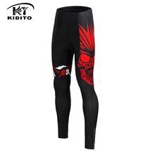 KIDITOKT зимние термофлисовые велосипедные штаны Pro 3D гелевые мягкие противоударные мотобайк, велосипед, велотренажер брюки для мужчин