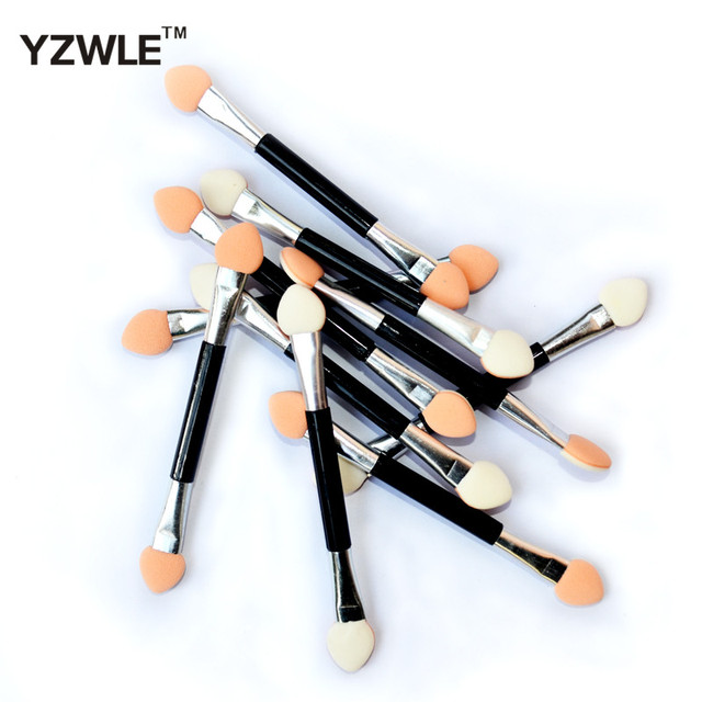 10PC Eyeshadow Applicator Pro Sponge Double Ended Make Up Supplies Portable Eye Shadow Brushes Nail Mirror Powder Brush 4
