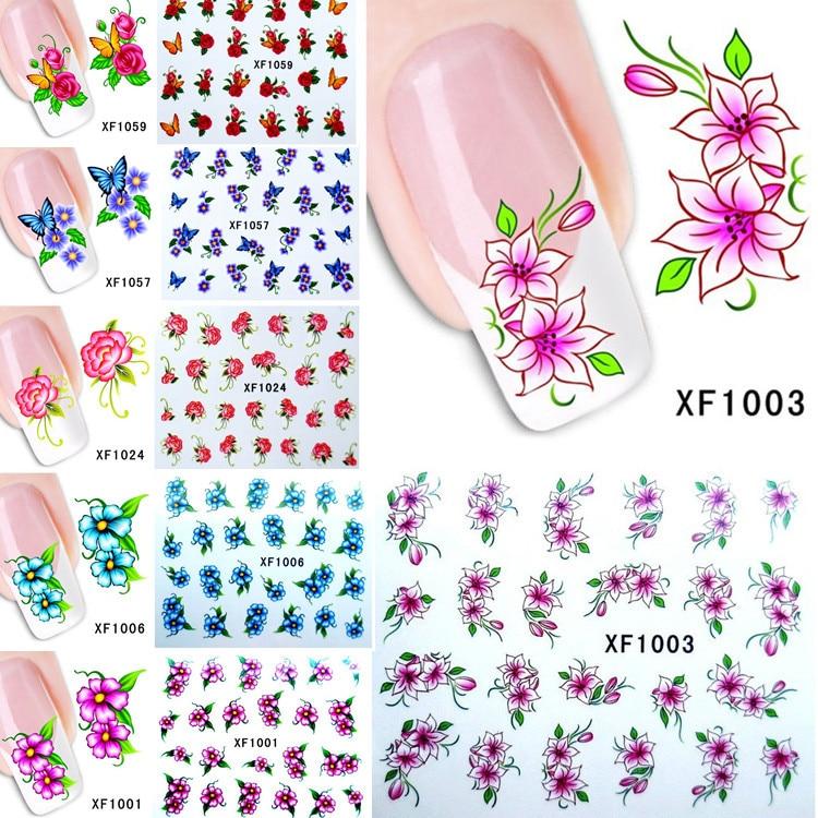 ̿̿̿(•̪ )Al por mayor xf1001-xf1060 floral diseños transferencia de ...