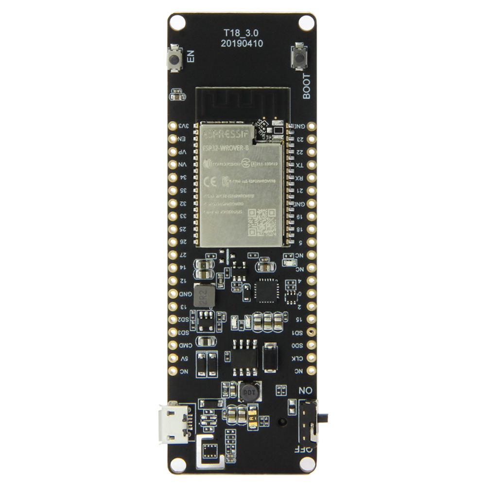 TTGO T-Energy ESP32-WROVER-B ESP32 8MByte PSRAM WiFi & Bluetooth Module 18650 Battery Development BoardTTGO T-Energy ESP32-WROVER-B ESP32 8MByte PSRAM WiFi & Bluetooth Module 18650 Battery Development Board