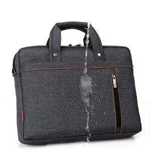 Image 4 - Sacoche Portable de luxe à épaule épaisse pour hommes et femmes, sacoche, étanche, antichoc, Air pochette dordinateur 17.3 15 14 15.6