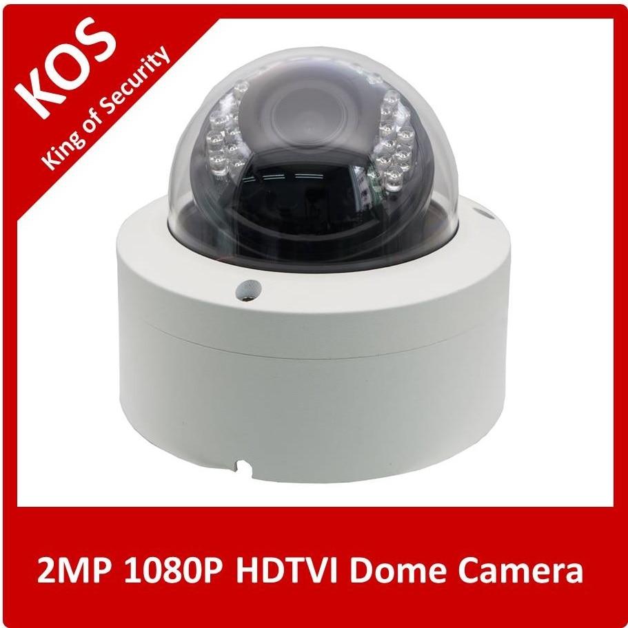 ФОТО KOS 1080P TVI Camera HD 2MP 1/2.8'' Sony Sensor Weatherproof 35pcs IR Leds   2.8-12mmLens IR Cut 15m Dome Camera  for CVI DVR