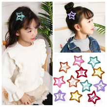 5cm Women Metal Snap Hair Clip Pins BB Hairpins Cute Big Glitter Star Hair Clip For Baby Children Girls Styling Accessories