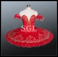 Free Shipping Red Color Ballet Tutu Professional Ballet Tututs Ballet Tutu Girls Tutu Ballet Dresses For