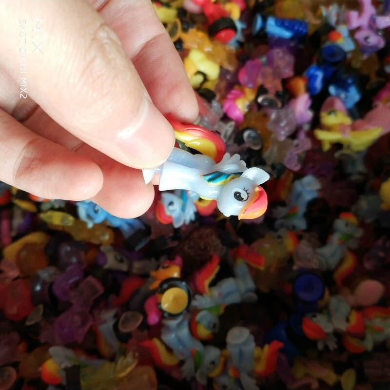 Wholesale 20pcs/lot Pony Action Figures Princess Soft Rubber Toy Girl Gift Vinyl Doll Birthday Toys Children Anime Horse Figure