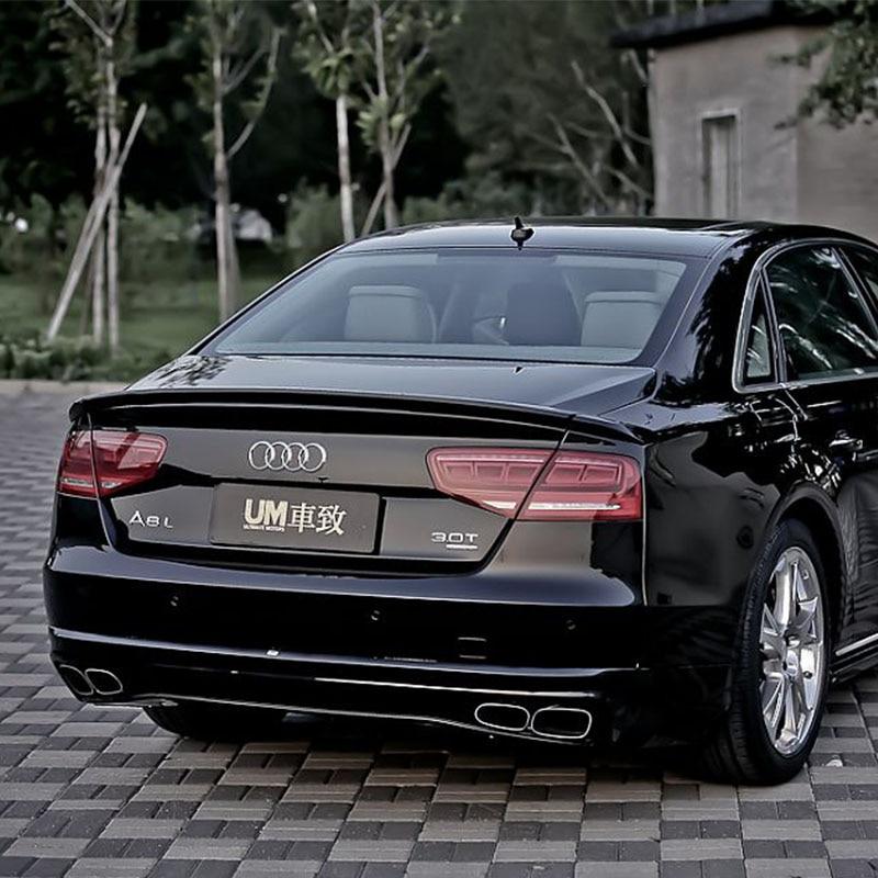 A8 Modifikovaný ABT styl 3PCS sklolaminátový základ zadní zavazadlový prostor zavazadlový prostor spoiler automobilové křídlo pro Audi A8 2010-2014