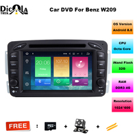 Android 8 0 2 Din 7 Inch Car DVD GPS Player For Mercedes Benz W209 W203