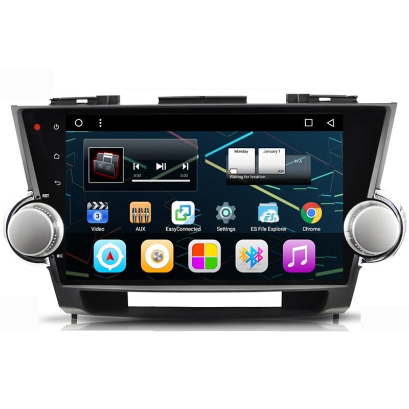 10.1 Quad Core Android 6.0 Car Stereo Audio Head Unit Headunit Autoradio for Toyota Highlander 2009 2010 2011 2012 2013 2014