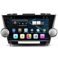 10,2 Автомобильная магнитола на андроид головное устройство аудиосистемы головного устройства Авторадио для Toyota Highlander 2009 2010 2011 2012 2013 2014