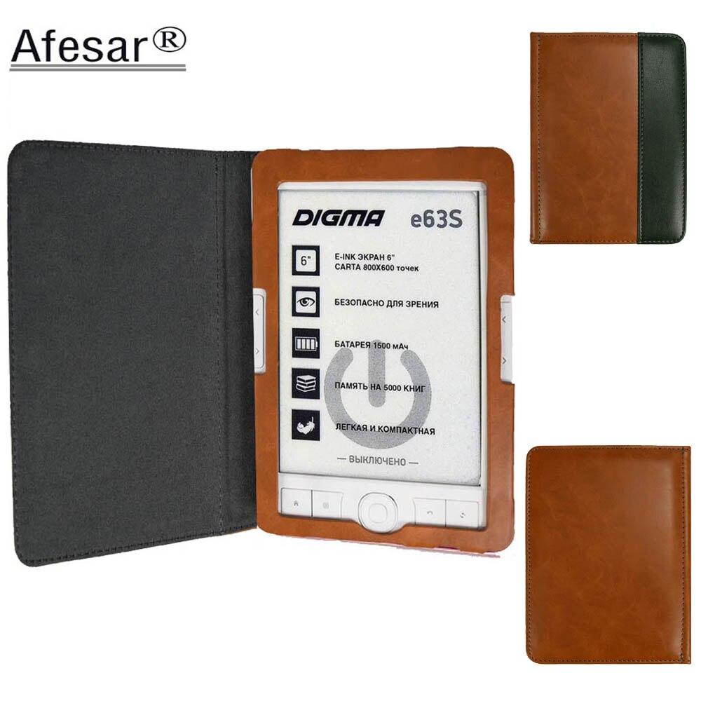 Tampa Articulada Para Digma E63s Afesar E63sdg eReader Caso do livro de couro pu fecho magnético flip bom ajuste R63s R63sdg ebook bolsa capa