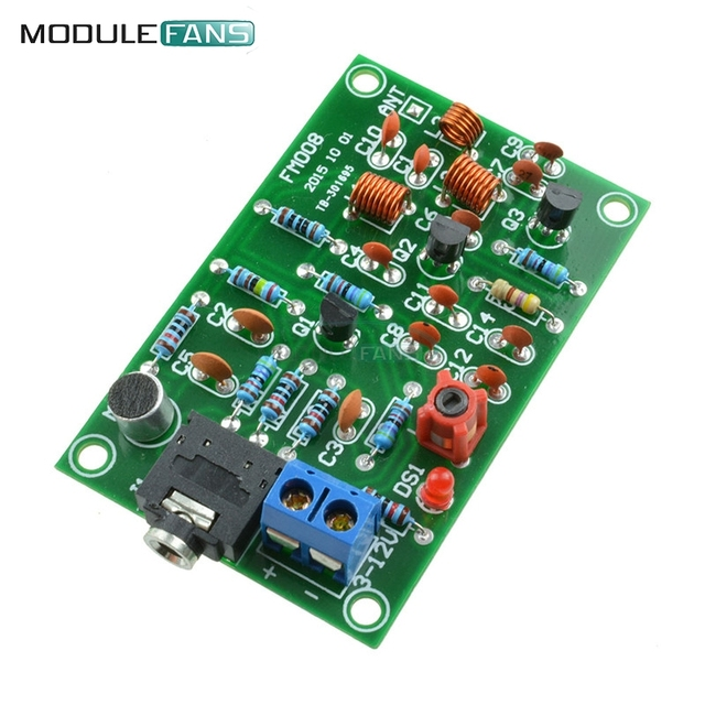 Wireless FM Module 76-110MHz FM Radio Transmitter Repeater MP3 Module Audio Wireless Transmitter Module 3V-12V MIC Microphone